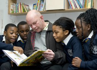 Nicky Hornby reading a book to some of his fans - BBC Radio 4