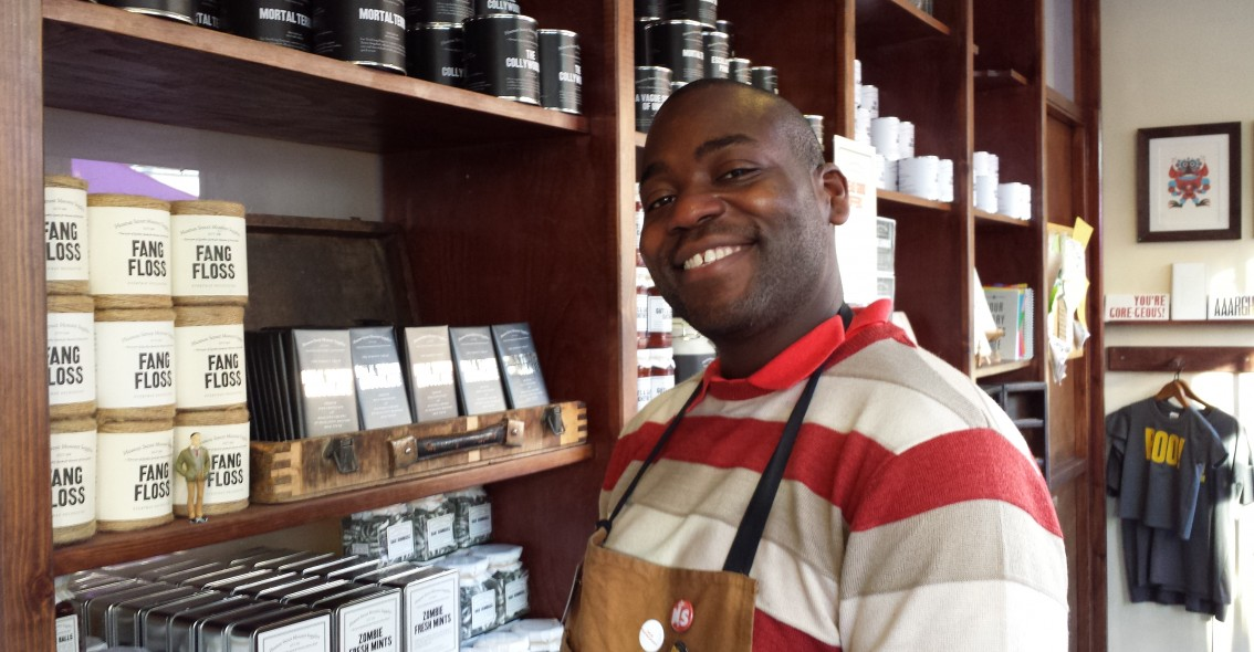 Andre Cole Minister of the Month (shopkeeper)