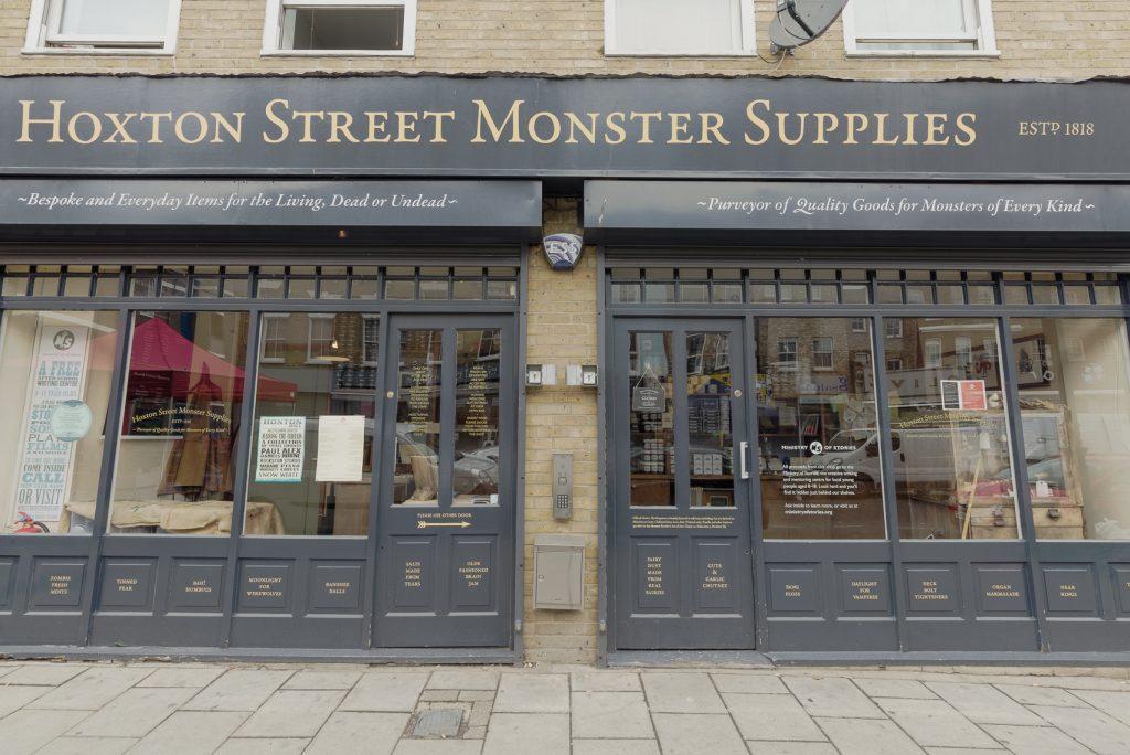 Exterior of Hoxton Street Monster Supplies