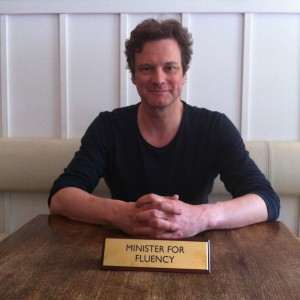 Colin Firth, Minister for Fluency - Support Us