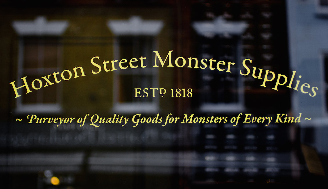 Hoxton Street Monster Supplies, established 1818 (photo: Alistair Hall)