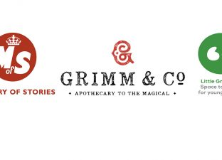 Logos of Ministry of Stories, Grimm & Co and Little Green Pig