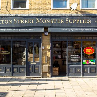 Shop front of Hoxton Street Monster Supplies