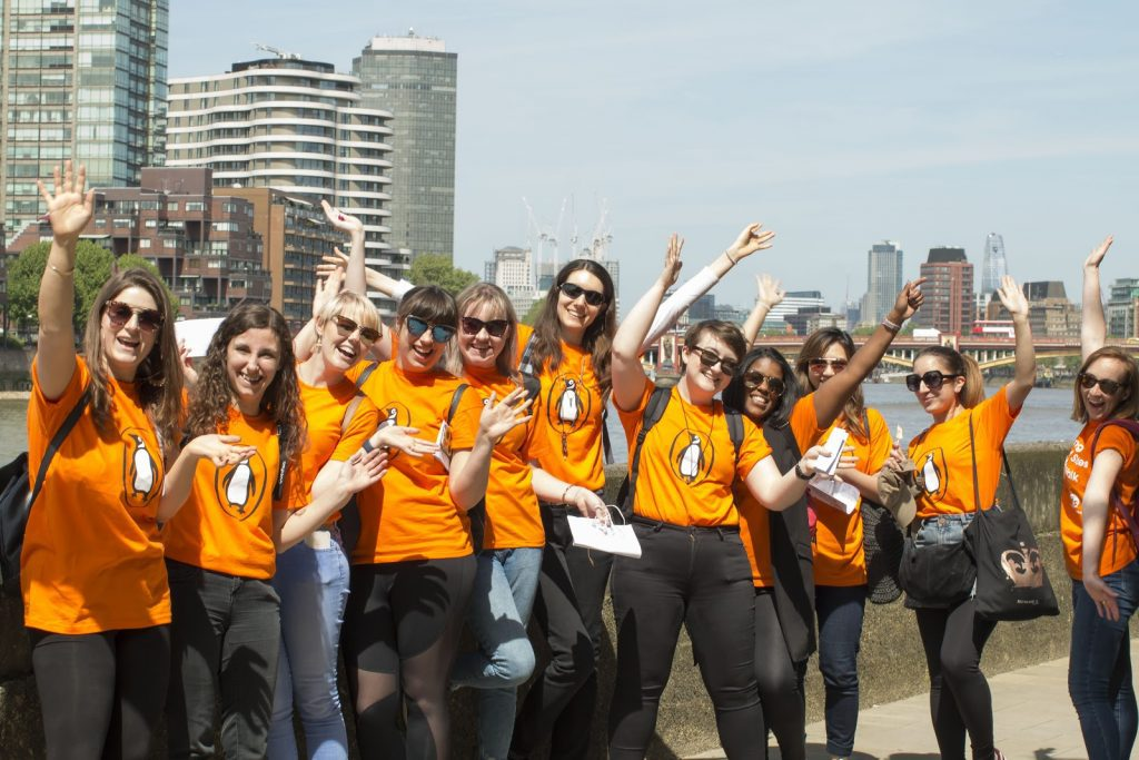 Penguin staff on a charity fundraising walk