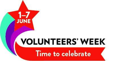 Volunteers' week logo - time to celebrate - 1-7 June