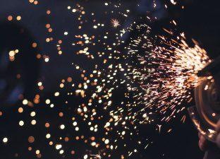 Blue Sparks Sizzling
