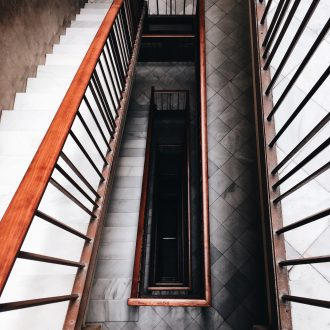 Looking down a stairwell