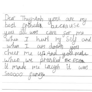 Letters from our young writers 1