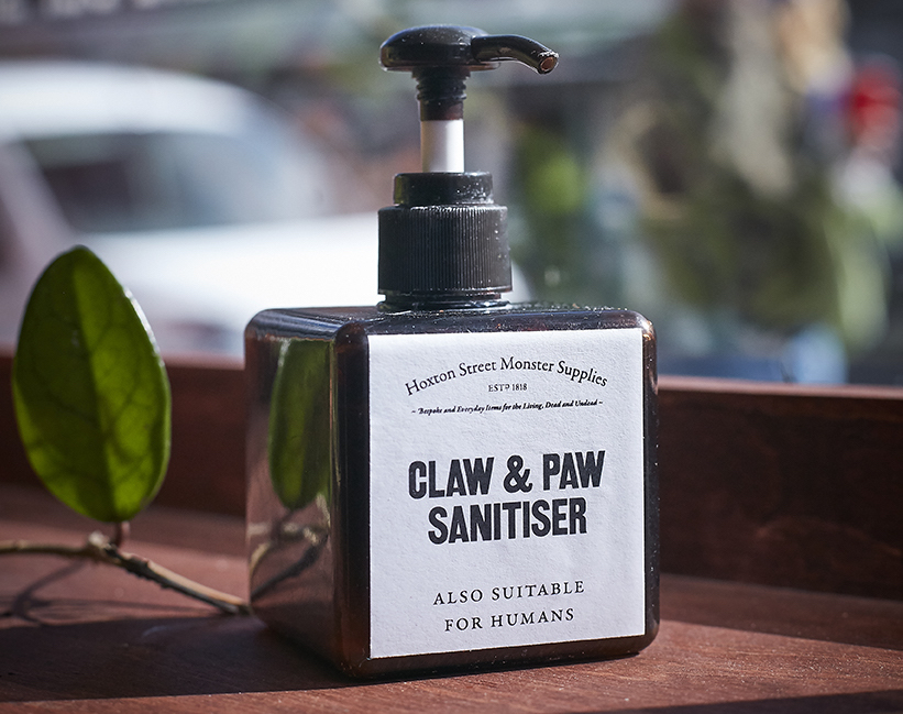 Bottle of Claw and Paw Sanitiser